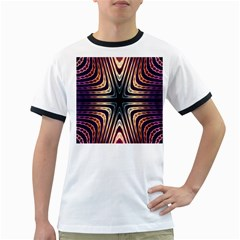 Colorful Seamless Vibrant Pattern Ringer T Shirts