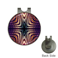 Colorful Seamless Vibrant Pattern Hat Clips with Golf Markers