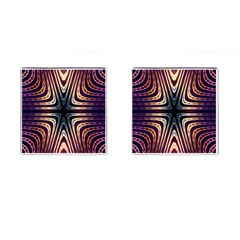 Colorful Seamless Vibrant Pattern Cufflinks (Square)