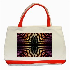 Colorful Seamless Vibrant Pattern Classic Tote Bag (Red)