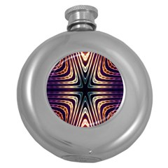 Colorful Seamless Vibrant Pattern Round Hip Flask (5 Oz)