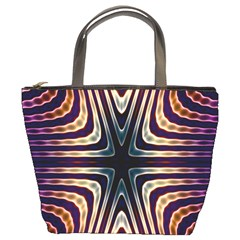 Colorful Seamless Vibrant Pattern Bucket Bags