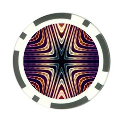 Colorful Seamless Vibrant Pattern Poker Chip Card Guard (10 Pack)