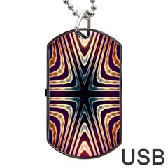Colorful Seamless Vibrant Pattern Dog Tag USB Flash (Two Sides)