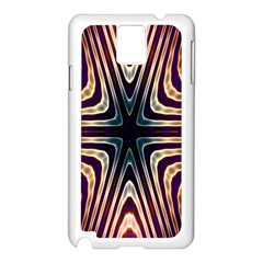 Colorful Seamless Vibrant Pattern Samsung Galaxy Note 3 N9005 Case (White)