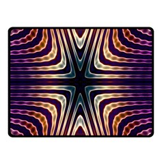 Colorful Seamless Vibrant Pattern Double Sided Fleece Blanket (Small)