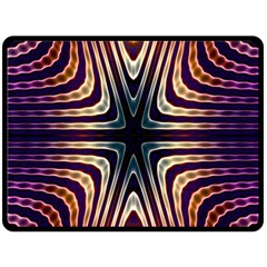 Colorful Seamless Vibrant Pattern Double Sided Fleece Blanket (large)