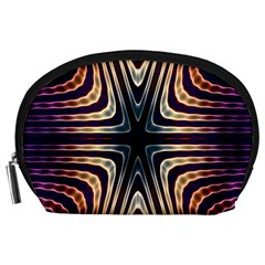 Colorful Seamless Vibrant Pattern Accessory Pouches (Large)