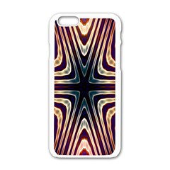 Colorful Seamless Vibrant Pattern Apple iPhone 6/6S White Enamel Case