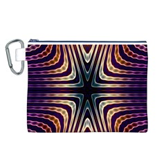 Colorful Seamless Vibrant Pattern Canvas Cosmetic Bag (L)