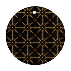 Seamless Symmetry Pattern Round Ornament (Two Sides)