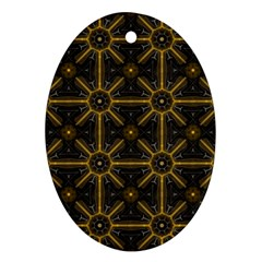 Seamless Symmetry Pattern Oval Ornament (two Sides)