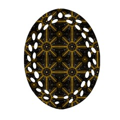 Seamless Symmetry Pattern Oval Filigree Ornament (Two Sides)