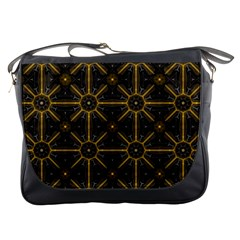 Seamless Symmetry Pattern Messenger Bags