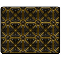 Seamless Symmetry Pattern Double Sided Fleece Blanket (Medium)