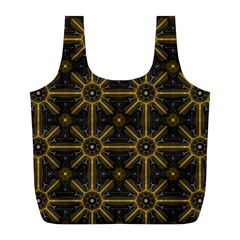 Seamless Symmetry Pattern Full Print Recycle Bags (L)