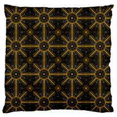 Seamless Symmetry Pattern Large Flano Cushion Case (One Side)