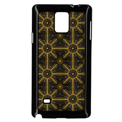 Seamless Symmetry Pattern Samsung Galaxy Note 4 Case (Black)