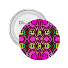 Love Hearths Colourful Abstract Background Design 2.25  Buttons