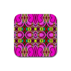 Love Hearths Colourful Abstract Background Design Rubber Coaster (Square)