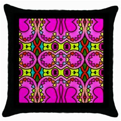 Love Hearths Colourful Abstract Background Design Throw Pillow Case (Black)