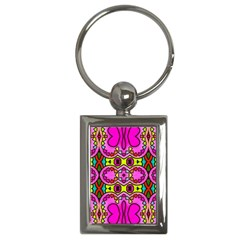 Love Hearths Colourful Abstract Background Design Key Chains (rectangle)