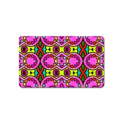 Love Hearths Colourful Abstract Background Design Magnet (name Card)