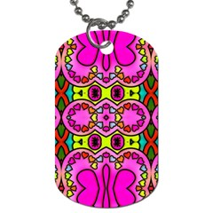 Love Hearths Colourful Abstract Background Design Dog Tag (one Side)