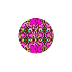 Love Hearths Colourful Abstract Background Design Golf Ball Marker