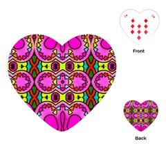 Love Hearths Colourful Abstract Background Design Playing Cards (heart)
