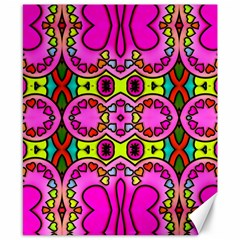 Love Hearths Colourful Abstract Background Design Canvas 8  X 10