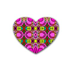 Love Hearths Colourful Abstract Background Design Heart Coaster (4 Pack)