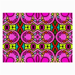 Love Hearths Colourful Abstract Background Design Large Glasses Cloth