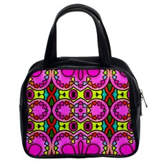 Love Hearths Colourful Abstract Background Design Classic Handbags (2 Sides)