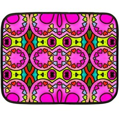 Love Hearths Colourful Abstract Background Design Double Sided Fleece Blanket (Mini)