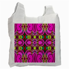 Love Hearths Colourful Abstract Background Design Recycle Bag (two Side)