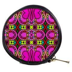 Love Hearths Colourful Abstract Background Design Mini Makeup Bags