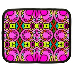 Love Hearths Colourful Abstract Background Design Netbook Case (XXL)