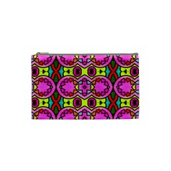 Love Hearths Colourful Abstract Background Design Cosmetic Bag (small)