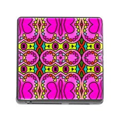 Love Hearths Colourful Abstract Background Design Memory Card Reader (square)