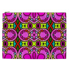 Love Hearths Colourful Abstract Background Design Cosmetic Bag (xxl)