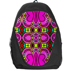 Love Hearths Colourful Abstract Background Design Backpack Bag