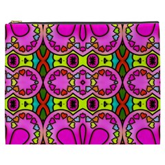 Love Hearths Colourful Abstract Background Design Cosmetic Bag (XXXL)