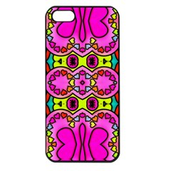 Love Hearths Colourful Abstract Background Design Apple iPhone 5 Seamless Case (Black)