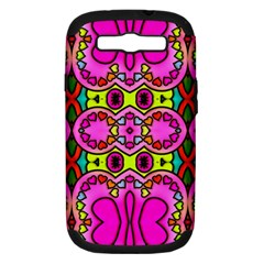 Love Hearths Colourful Abstract Background Design Samsung Galaxy S Iii Hardshell Case (pc+silicone)