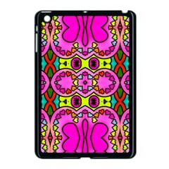Love Hearths Colourful Abstract Background Design Apple iPad Mini Case (Black)
