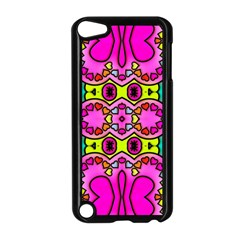 Love Hearths Colourful Abstract Background Design Apple Ipod Touch 5 Case (black)