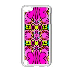 Love Hearths Colourful Abstract Background Design Apple iPod Touch 5 Case (White)