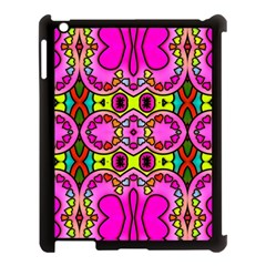 Love Hearths Colourful Abstract Background Design Apple iPad 3/4 Case (Black)
