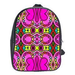 Love Hearths Colourful Abstract Background Design School Bags (XL)